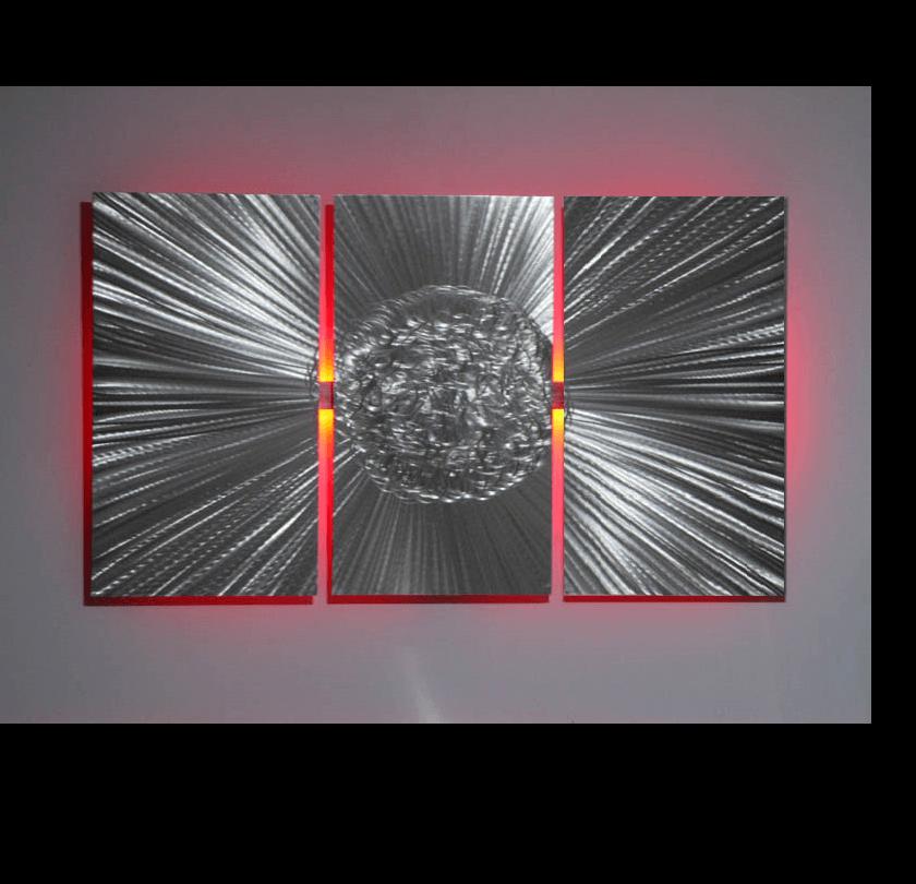 Meteor Led Wall Art Metalistik Metal Wall Art
