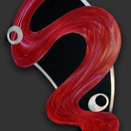 """Zodiac"" Metal Wall Sculpture Red"